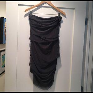 AQUA Strapless Tube Dress
